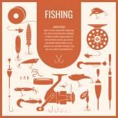 Set Fishing tackle Vector elements eps 10