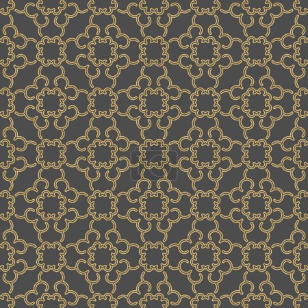 Illustration for Linear seamless geometric pattern. Decorative background - Royalty Free Image