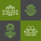 Eco-settlement Logos and design elements