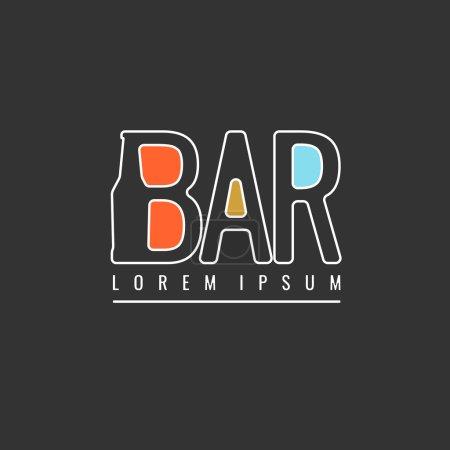 Vintage logo bar. Brewery.