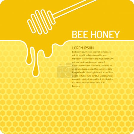 Stylish and modern background for bee products