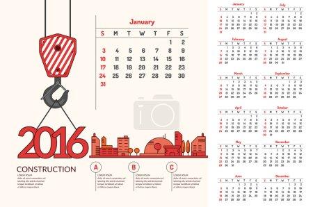 Bau. Kalender für 2016.