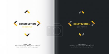 Logo Construction. Elements for card