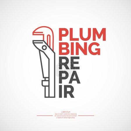 Plumbing repair banner.