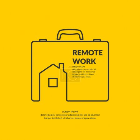 Remote work. Original concept poster