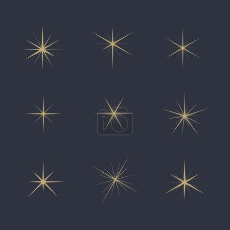 Illustration pour Prêt. Étoiles scintillantes. Eléments de conception, vecteur eps 10 . - image libre de droit