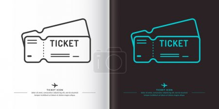 Ticket icons on background. Vector illustration. T...