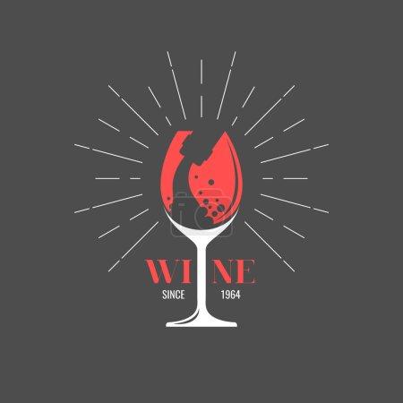 Illustration pour Une étiquette de vin. Illustrations pour le design, site web, infographie, affiche, publicité - image libre de droit