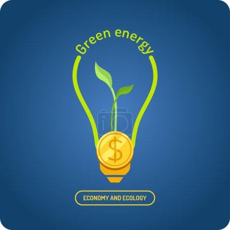 Photo pour L'énergie verte. Illustrations pour le design, site web, infographie, affiche, publicité . - image libre de droit