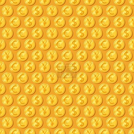 Money. seamless patterns.