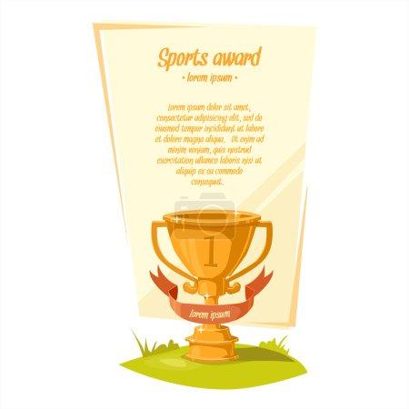 Cup. Sports award.