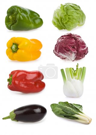 Photo for Healty vegetable composition set isolated on white - Royalty Free Image