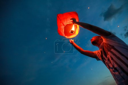 Omsk, Russia - June 16, 2012: festival of Chinese lantern