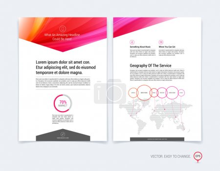 Set of Business brochure, flyer and cover design layout template