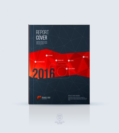 Abstract layout brochure, cover annual report template, magazine