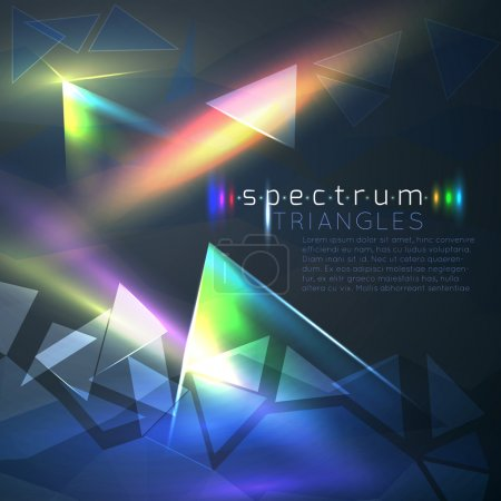 Illustration for Abstract spectrum triangles background - Royalty Free Image