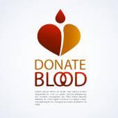 Donate blood logo