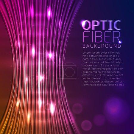 Colorful Optical Fibers