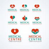 Medical logo template set
