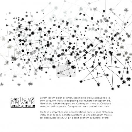 network with particles design