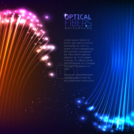 Colorful Optical Fibers