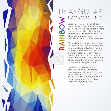 rainbow triangular polygons texture