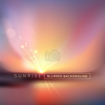 Illustration for Blurred Abstract sunset with defocused lights, vector illustration background - Royalty Free Image