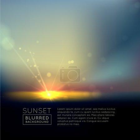 Blurred sunset with defocused lights