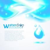 Modrá voda vlna