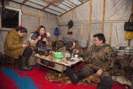The extreme north, Yamal, the pasture of Nenets pe...
