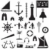 Sada symbolů plachetnice