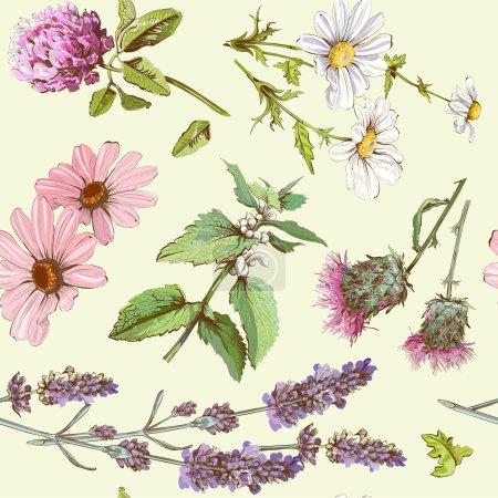 Medicinal herbs pattern