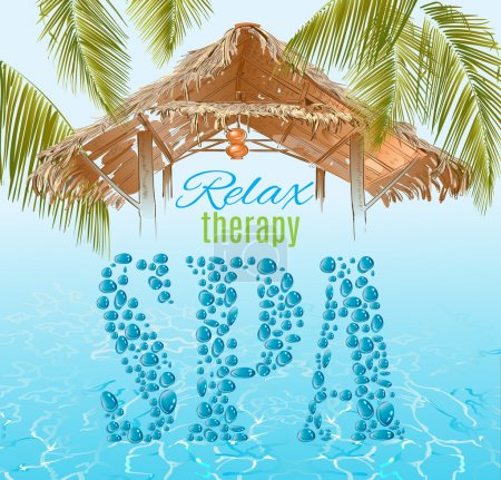 Tropic style spa banner