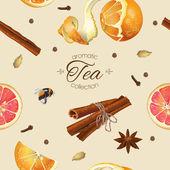 Spice tea seamless pattern
