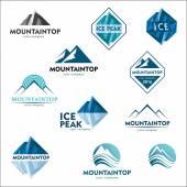 """Постер, картина, фотообои """"Гора логотип, Дизайн логотипа вектор для горнолыжного спорта, туризма, активного отдыха"""""""