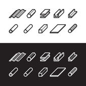 Metallurgy products icons set Metal vector illustration