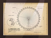 Architectural Old Technical Drawing