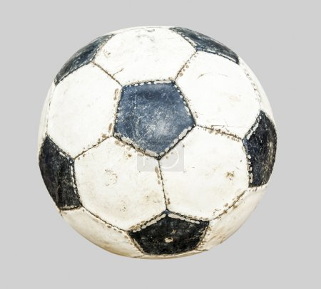 soccer ball isolated on gray background