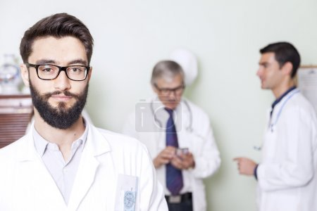 group of doctors at hospital