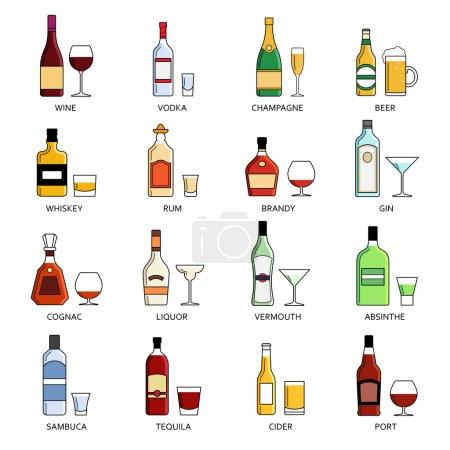 Vector alcohol list