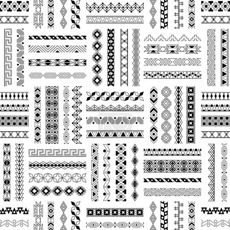 Vector decorative seamless patterns