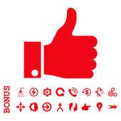 Thumb Up Icon icona piatto con Bonus