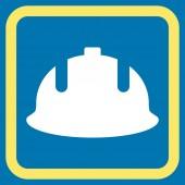 Stavební helmu plochý vektorové ikony