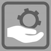 Inženýrské služby paušální vektorové ikony