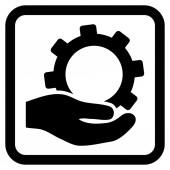 Paušální služby vektorové ikony