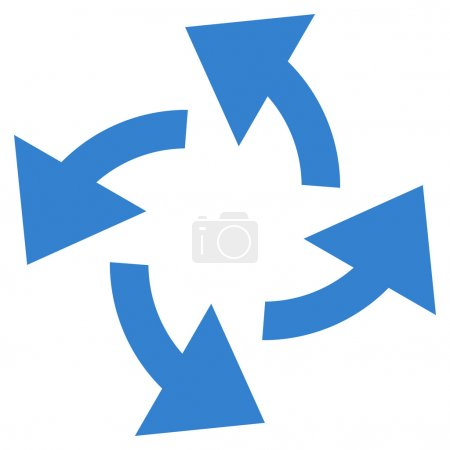 Centrifugal Arrows Flat Vector Icon