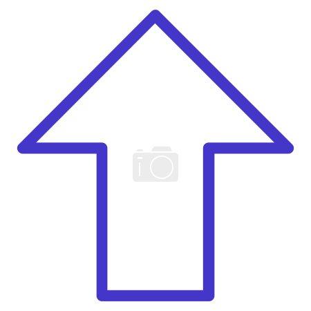 Arrow Up Contour Vector Icon