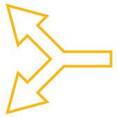 Spojovací šipku vlevo osnovy vektorové ikony