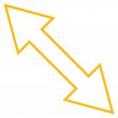 Překlopit tenké diagonální linie vektorové ikony