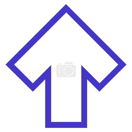 Arrow Up Stroke Vector Icon